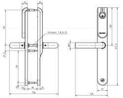 Беспроводной щиток E100 европрофиль, без отверстий под цилиндр
