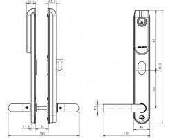 Беспроводной щиток E100 SCAND THUMBTURN Standard