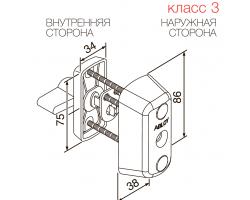 CY066 ABLOY - цилиндр усиленный ключ-поворотная кнопка финского стандарта