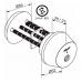 CYL037 ABLOY электромеханический цилиндр CLIQ  с заглушкой с внутренней стороны