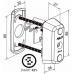 CYL063 ABLOY электромеханический цилиндр CLIQ с заглушкой с внутренней стороны