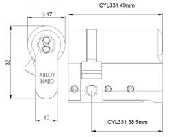 CYL331 цилиндр CLIQ