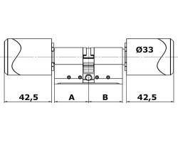 Цилиндр двухсторонний C100 ЕВРО нержавеющая сталь