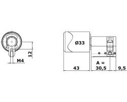 Цилиндр односторонний C100 ЕВРО нержавеющая сталь