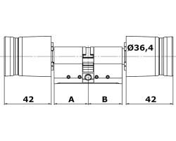 Цилиндр двухсторонний C100 ЕВРО Soft-touch пластик