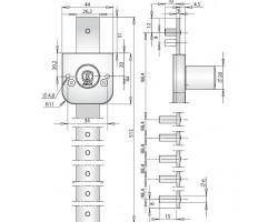 OF233 ABLOY - замок для мебели