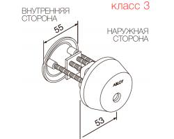 CY037 ABLOY - цилиндр односторонний финского стандарта