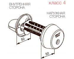 CY039 ABLOY - цилиндр усиленный ключ-поворотная кнопка финского стандарта