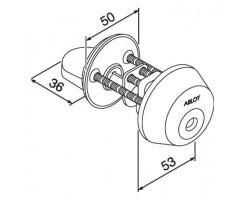 CY028 ABLOY - цилиндр ключ-поворотная кнопка финского стандарта