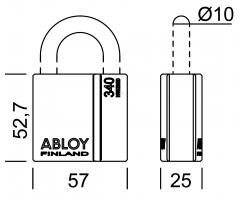 PL340 ABLOY - замок навесной усиленный
