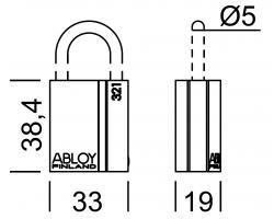 PL321 ABLOY - замок навесной