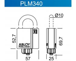 PLM340 ABLOY - замок навесной усиленный всепогодный
