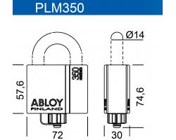PLM350 ABLOY - замок навесной усиленный всепогодный