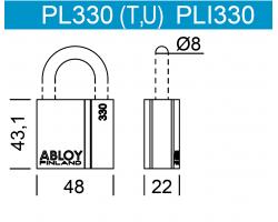 PLI330 ABLOY - замок навесной всепогодный