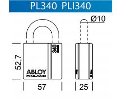 PLI340 ABLOY - замок навесной усиленный всепогодный